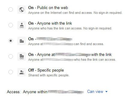 general-level-of-access-google-site