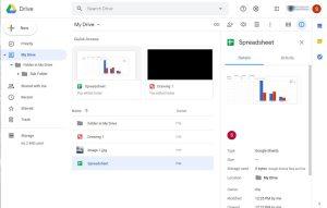 Google Drive interface all