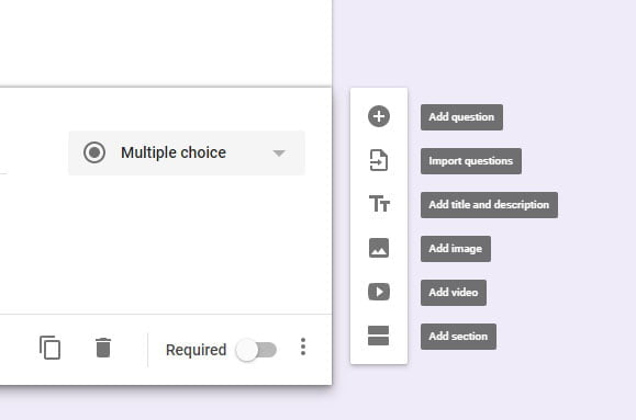 add a field in google form