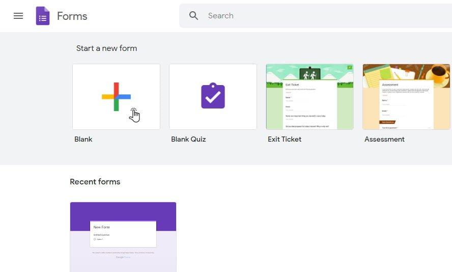 create google form Google Forms app