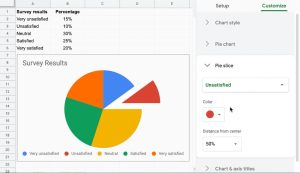 explode a Pie Chart in Google Sheets