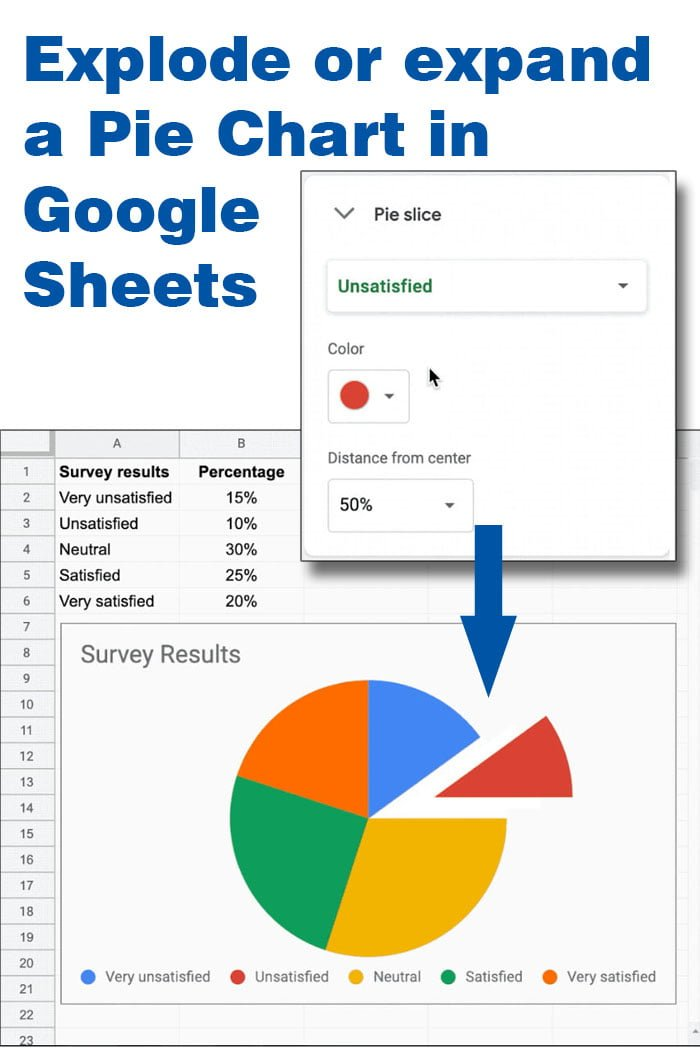 expand pie chart google sheets