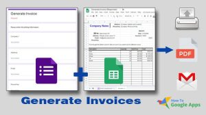 generate invoice google forms and sheets