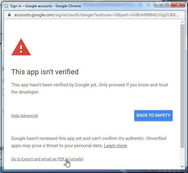 access-unsafe-app-isn't-verified-warning