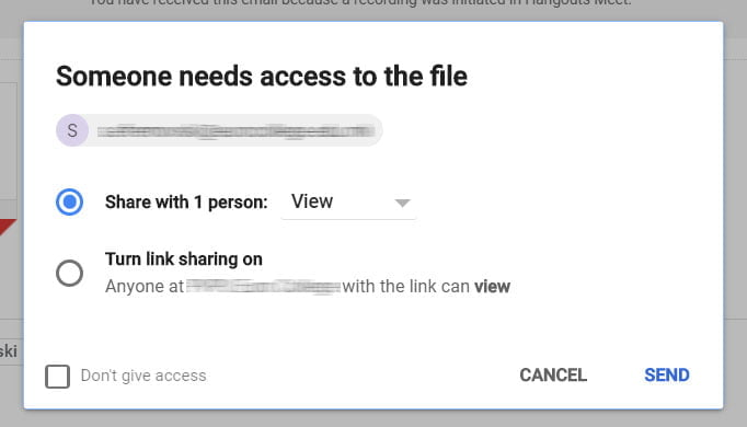 share drive file on gmail