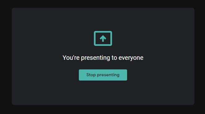 stop presenting google meet