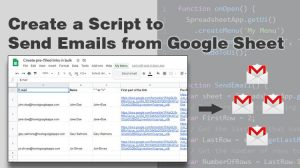 Create a Script to Send Emails from Google Sheet