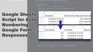 Google Sheets Script for Auto Numbering Google Form Responses