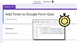 add timer to google form quiz