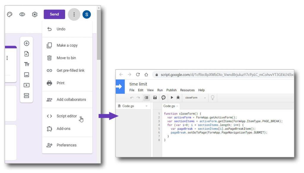 script editor google forms
