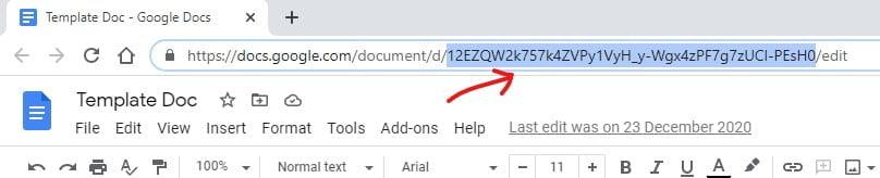 copy google doc ID