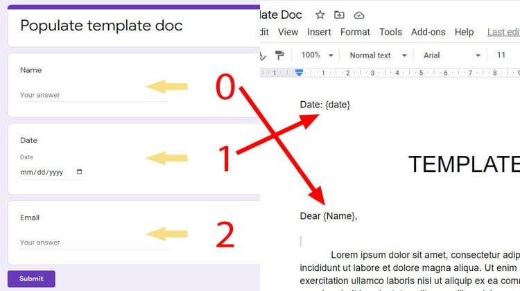 form questions to google docs