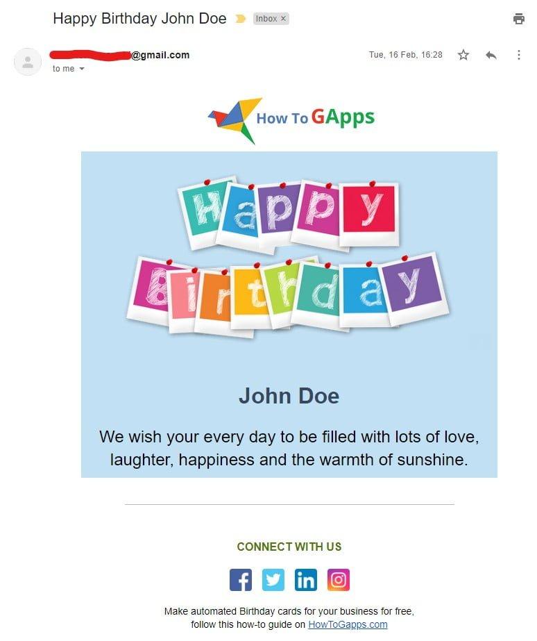 html happy birthday ecard template 2