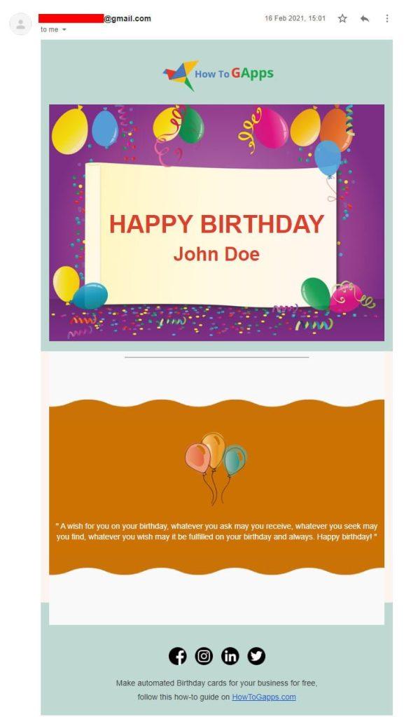 html happy birthday ecard template no.3